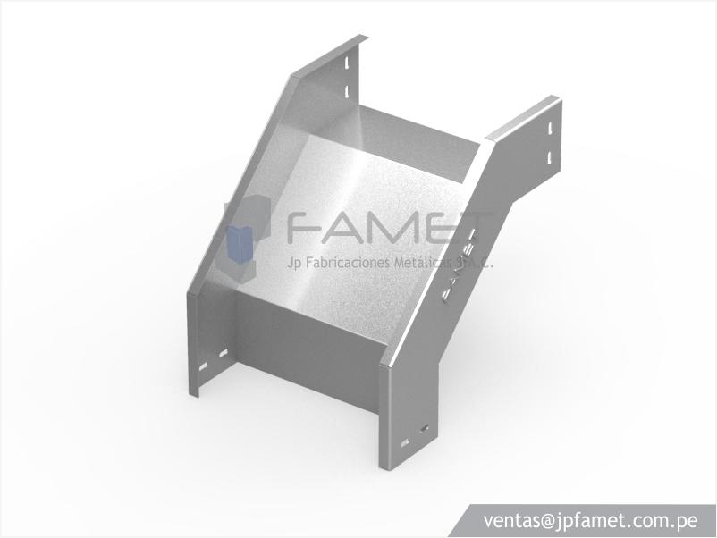 Bandeja portacable tipo lisa jp fabricaciones met licas for Curva vertical exterior 90