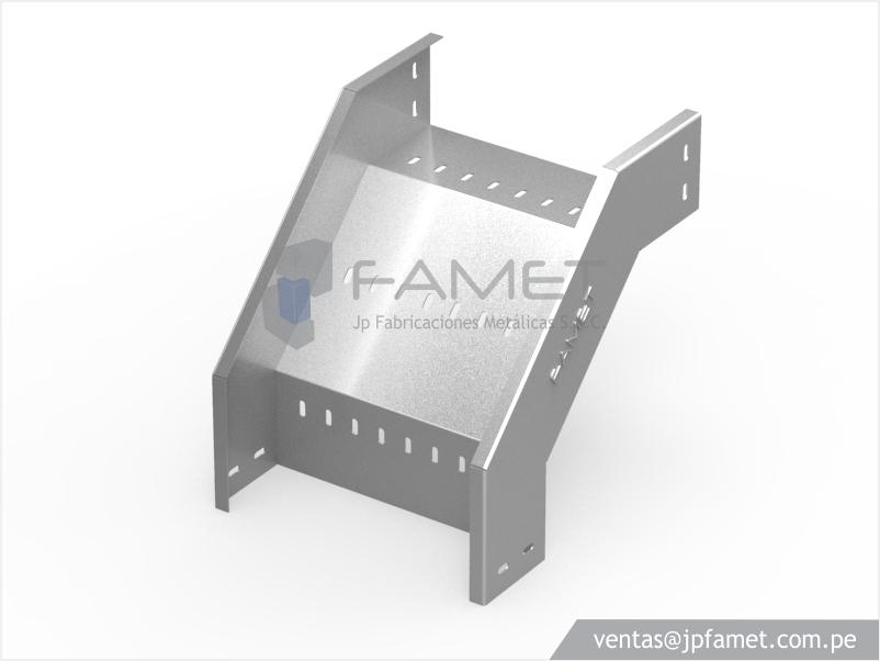 Bandeja portacables jp fabricaciones met licas s a c for Curva vertical exterior 90